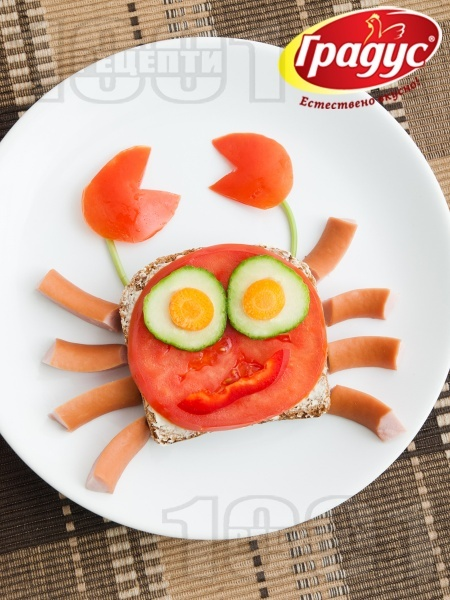 Детски сандвич Рачо Капитана - снимка на рецептата